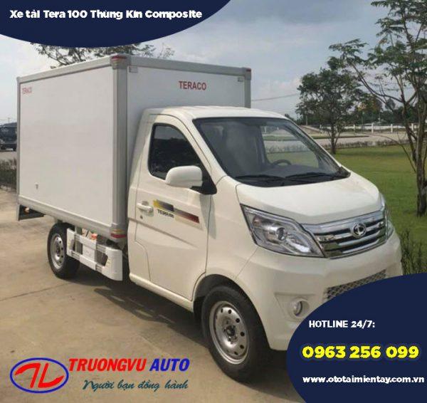 Xe tải Tera 100 990KG Thùng Kín Composite